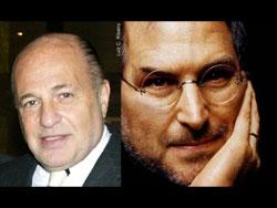 Universal Music CEO Doug Morris and Apple CEO Steve Jobs